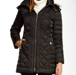 Kenneth Cole Reaction diamond quilted down coat